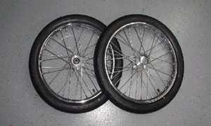 17in Wire spoke dragster front wheels